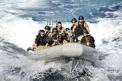 Inflatable Photograph - Sailors Conduct Maneuvers by Stocktrek Images