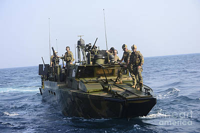 Sailors Conduct Patrol Operations Print by Stocktrek Images