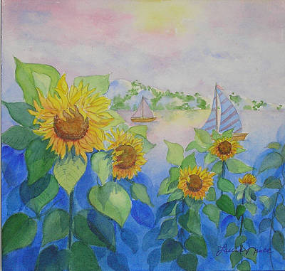 Sunflowers Painting - Sailor's Delight by Laura Nance
