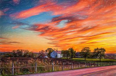 Back Roads Digital Art - Sailors Delight - Paint by Steve Harrington