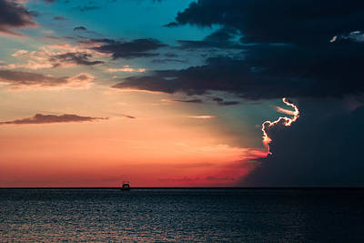Jamaican Sunset Photograph - Sailor's Delight by Todd Reese