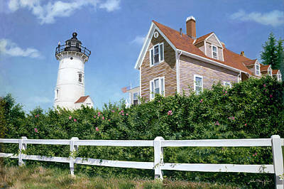 Sailors Gift - Nobska Lighthouse Art Print by Julia O'Malley-Keyes
