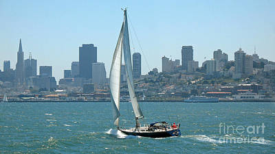 Sailors View Of San Francisco Skyline Art Print by Connie Fox