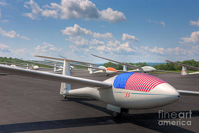 Sailplanes On The Grid I Art Print by Clarence Holmes
