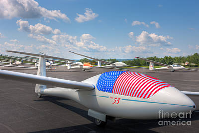 Sailplanes On The Grid IIi Art Print by Clarence Holmes