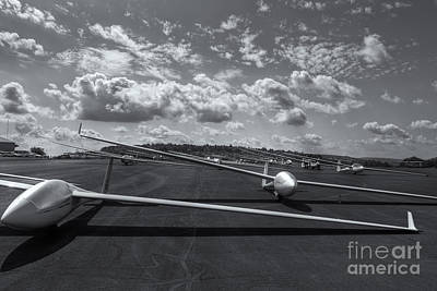 Sailplanes On The Grid Vi Art Print by Clarence Holmes