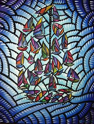 Painting - Sails 2008 by Marconi Calindas