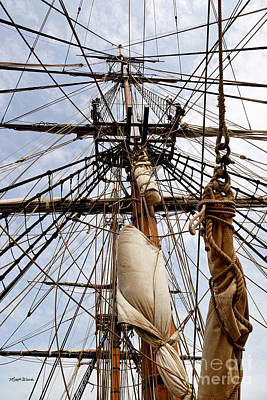 Photograph - Sails Aboard The Hms Bounty by Michelle Wiarda-Constantine