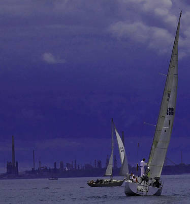 Photograph - Sails And Dark Sky by Ian  MacDonald