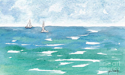 Caribbean Sea Painting - Sails At Sea by Pat Katz