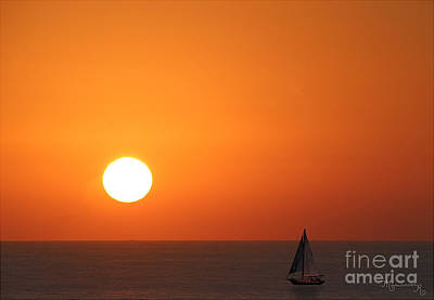 Photograph - Sails At Sunset by Mariarosa Rockefeller