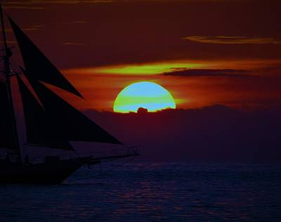 Photograph - Sail Into The Sunset by Gary Smith