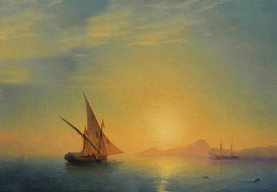 Impressionism Mixed Media - Sails In The Sunset by Isabella Howard
