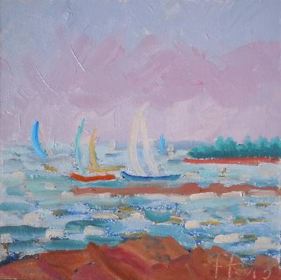 Painting - Sails On The Bay by Francine Frank