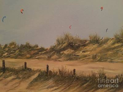 Painting - Sails Over The Dunes by Cheryl Damschen