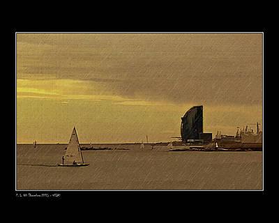 Sails Art Print by Pedro L Gili