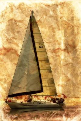 Boat Photograph - Sails Set by Barry Jones
