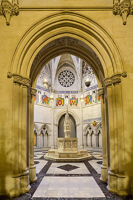 Photograph - Saint John The Divine Baptistry by Susan Candelario