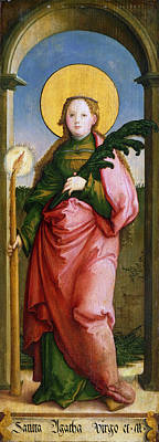 Catholic For Sale Painting - Saint Agatha by Master of Messkirch