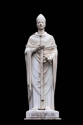 Photograph - Saint Ambrose by Fabrizio Troiani
