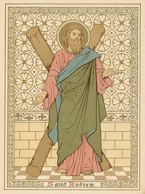 Christianity Drawing - Saint Andrew by English School