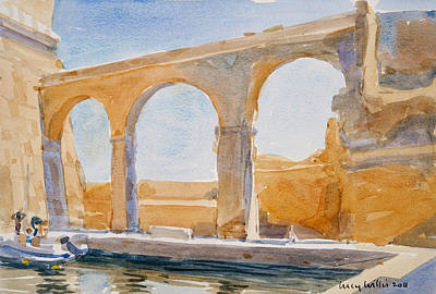 Maltese Painting - Saint Angelo by Lucy Willis