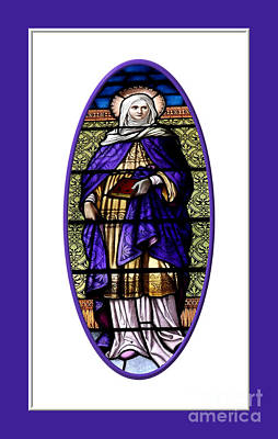 Glass Photograph - Saint Ann  Stained Glass Window by Rose Santuci-Sofranko