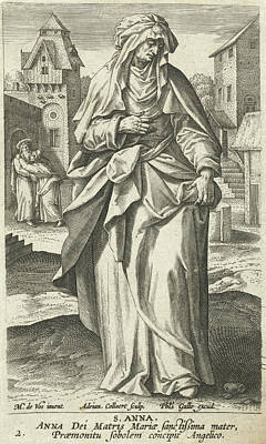 Immaculate Drawing - Saint Anna, Adriaen Collaert, Philips Galle by Adriaen Collaert And Philips Galle And Cornelis Kiliaan