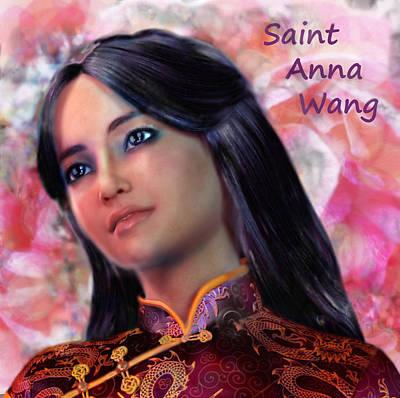Saint Anna Wang/2 Art Print