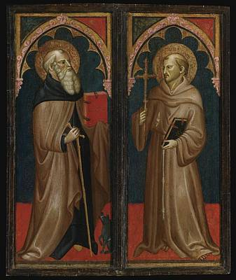 Abbot Painting - Saint Anthony Abbot And Saint Francis by Celestial Images