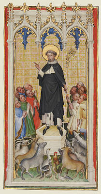 Abbot Painting - Saint Anthony Abbot Blessing The Animals by Litz Collection