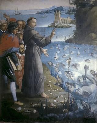 Saint Anthony Of Padua Preaching Art Print by Everett