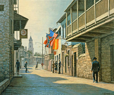 Florida Painting - Saint Augustine Street   by Paul Krapf