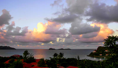 Red Roof Photograph - Saint Barthelemy by Karen Wiles