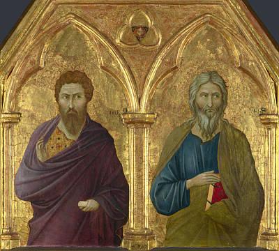 Painting - Saint Bartholomew And Saint Andrew by Ugolino di Nerio