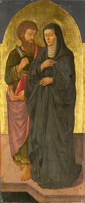 Painting - Saint Bartholomew And Saint Monica by Zanobi Machiavelli
