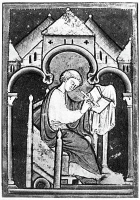 7th Century Painting - Saint Bede (673-735) by Granger