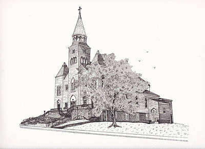 Saint Bridget Church Art Print