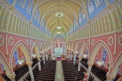 Sacred Heart Of Jesus Photograph - Saint Bridgets Church by Susan Candelario