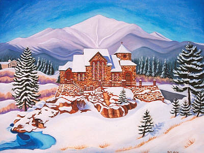 Painting - Saint Catherine Chapel by Ruth Soller