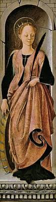 1470 Painting - Saint Catherine by Francesco del Cossa