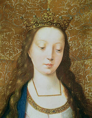Long Necklace Painting - Saint Catherine by Goossen van der Weyden