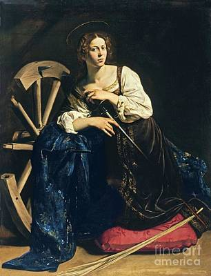 Caravaggio Painting - Saint Catherine Of Alexandria by Pg Reproductions