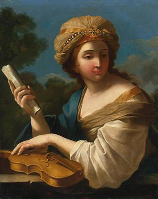 Cecilia Painting - Saint Cecilia by Giovanni Francesco Romanelli