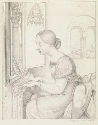 Saint Cecilia Joseph Anton Draeger, German Print by Litz Collection