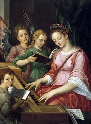 Saint Cecilia Art Print by Michiel Coxcie