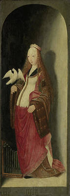 Saint Cecilia, Right Wing Of A Triptych, Attributed Print by Litz Collection