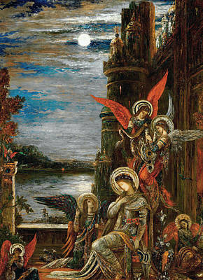 Cecilia Painting - Saint Cecilia. The Angels Announcing Her Coming Martyrdom by Gustave Moreau