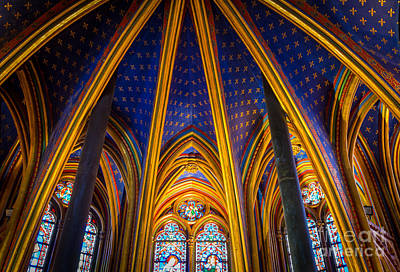 Chapelle Photograph - Saint Chapelle Ceiling by Inge Johnsson