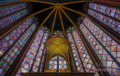 Chapelle Photograph - Saint Chapelle Windows by Inge Johnsson